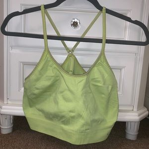 Neon Yellow Champion Sports Bra